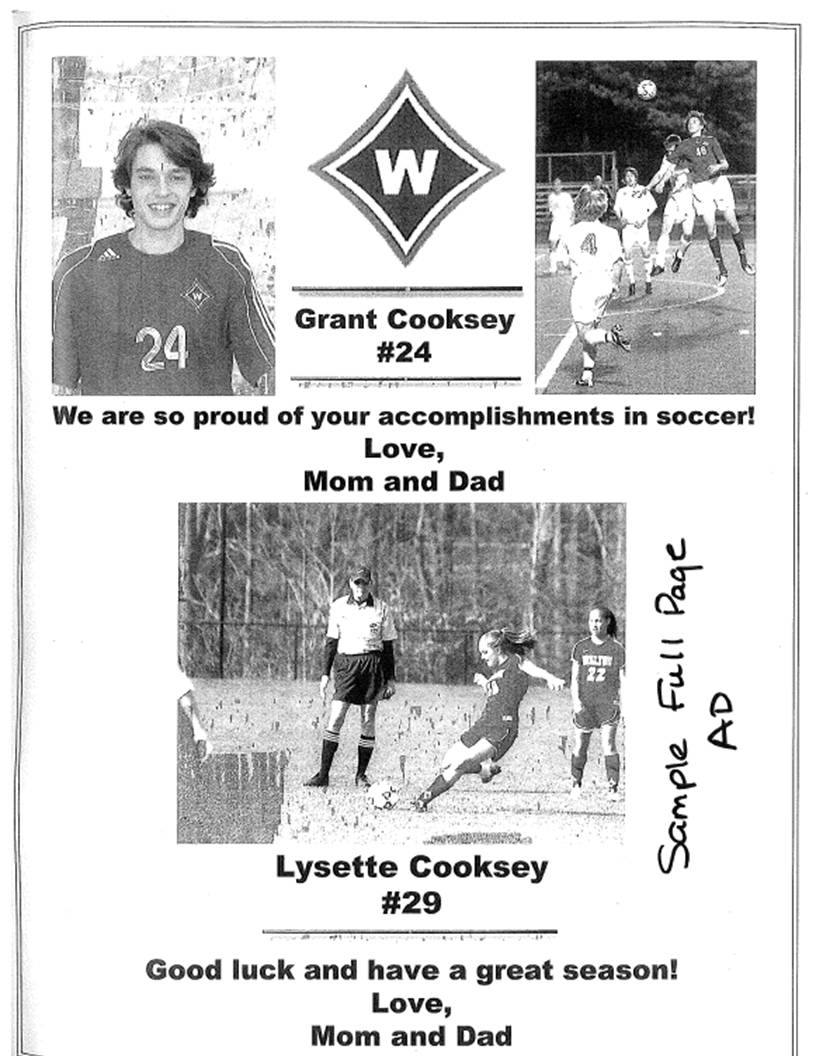 Souvenir Program Extra Instructions Walton Soccer